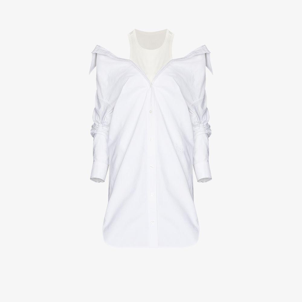 Alexander Wang Clothing WHITE LAYERED SHIRT DRESS