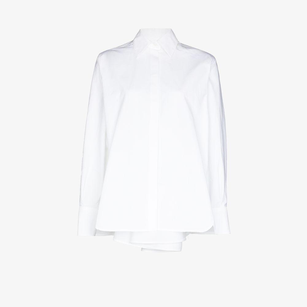 Valentino WHITE BOW BACK COTTON SHIRT