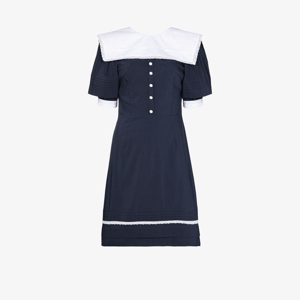 Sailor V-Back Mini Dress