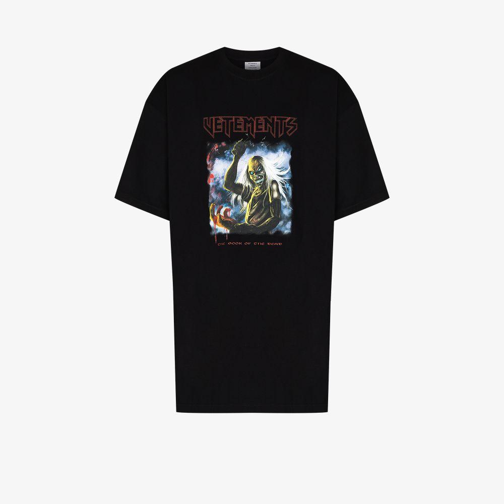 Vetements T-shirts BLACK HEAVY METAL PRINT T-SHIRT