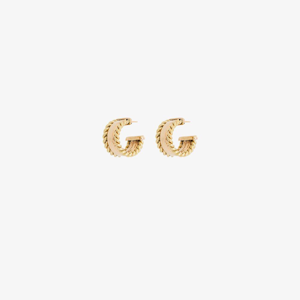 Gold Tone Coppia Braid Hoop Earrings