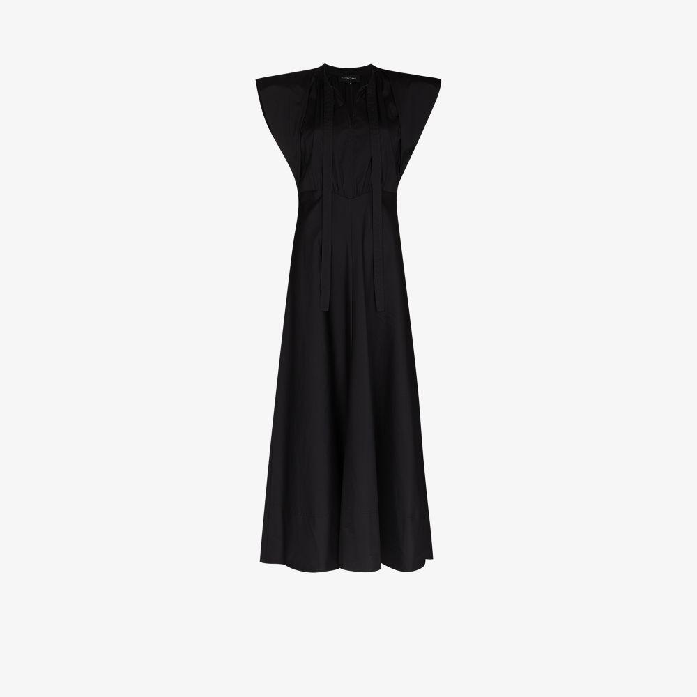 Maleo Tie Neck Maxi Dress