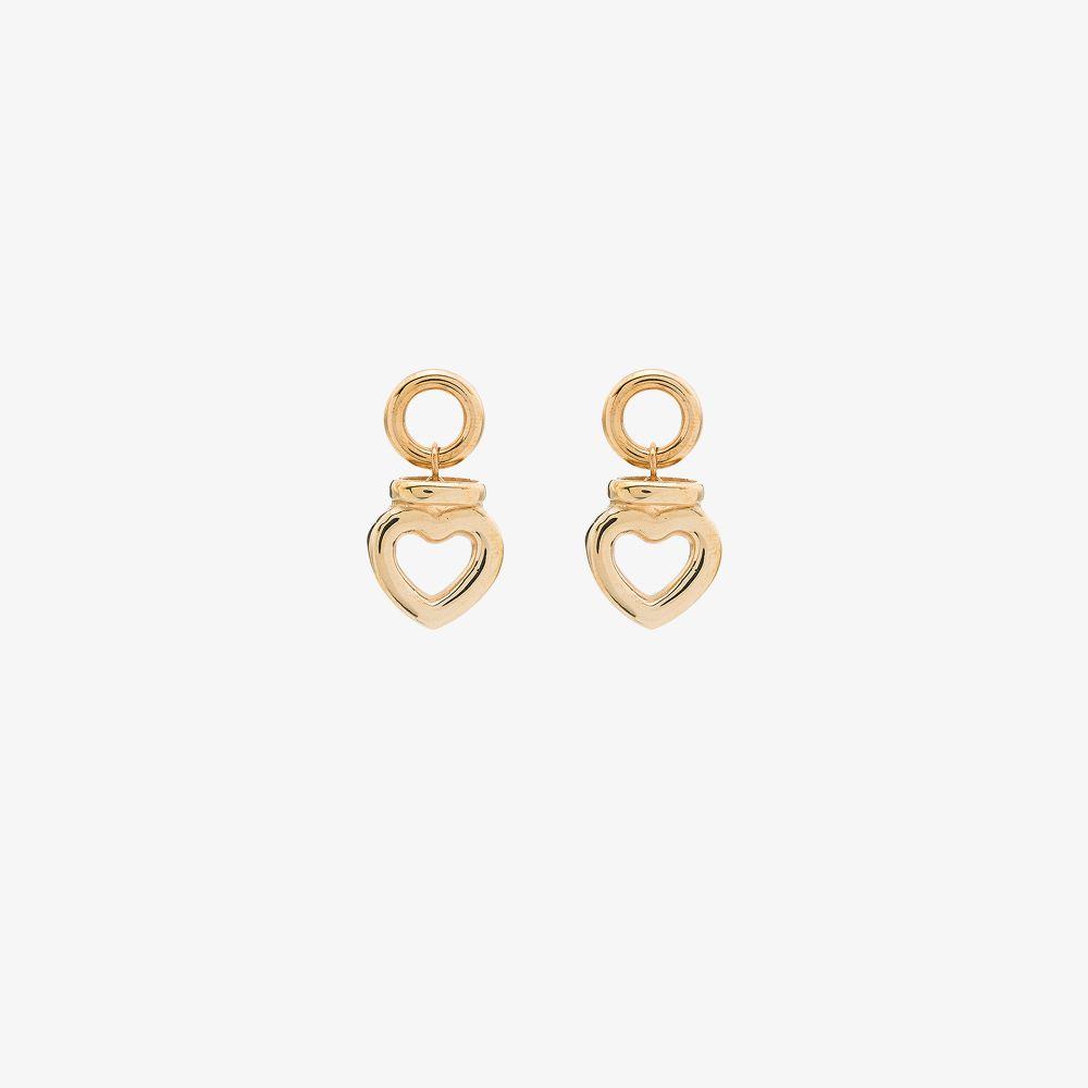Gold Tone Hart Dolce Stud Earrings