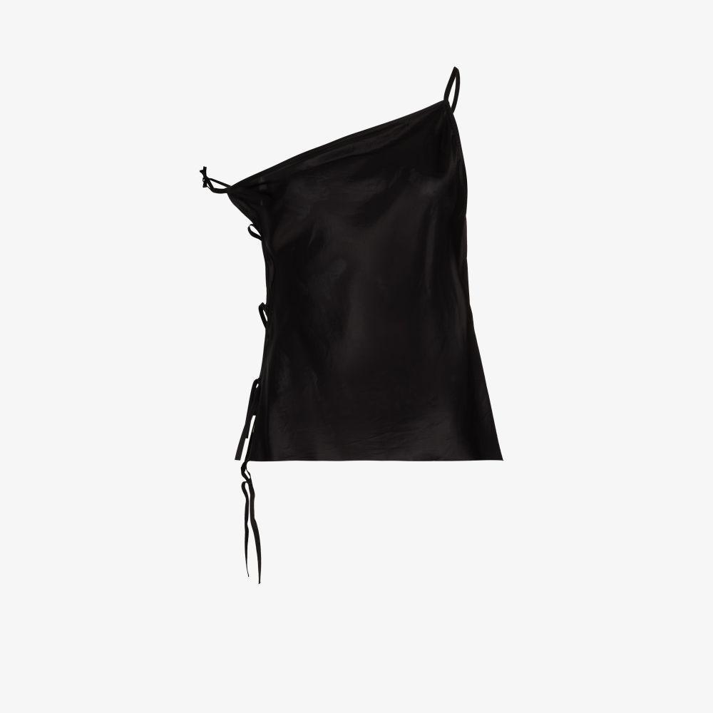 Rick Owens Vests BLACK TACO ASYMMETRIC CAMISOLE TOP