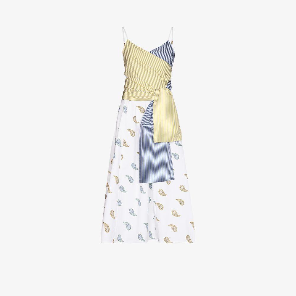 Silvia Tcherassi WHITE CALUSA PANELLED WRAP DRESS