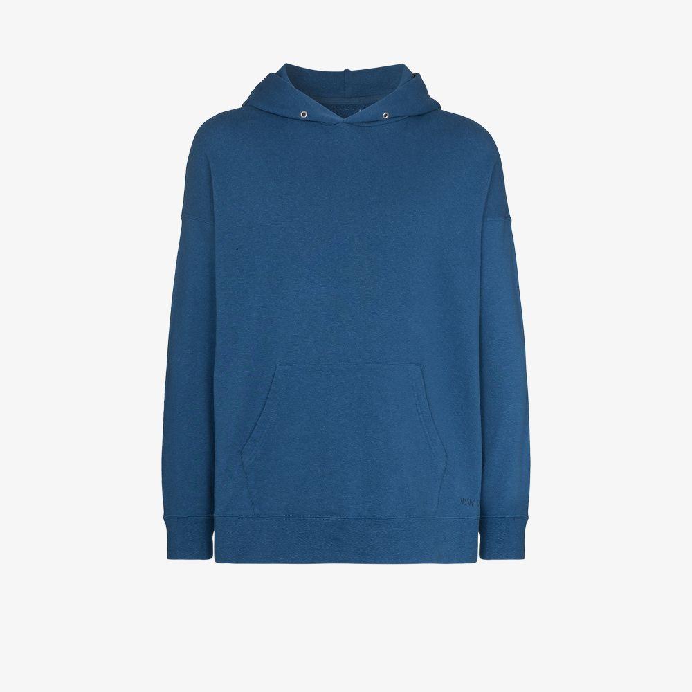 Visvim Cottons BLUE JUMBO HOODED SWEATSHIRT