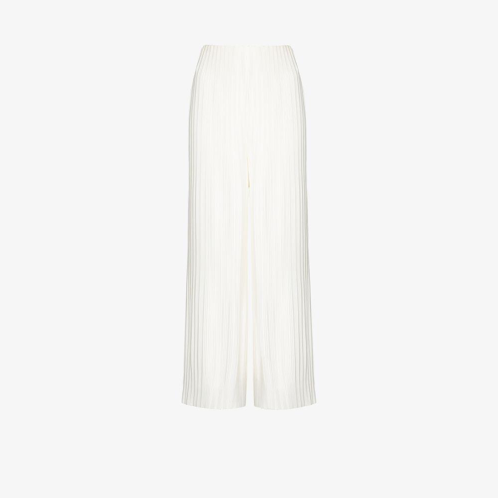 Solace London Wide leg pants WHITE ZOYA WIDE LEG TROUSERS