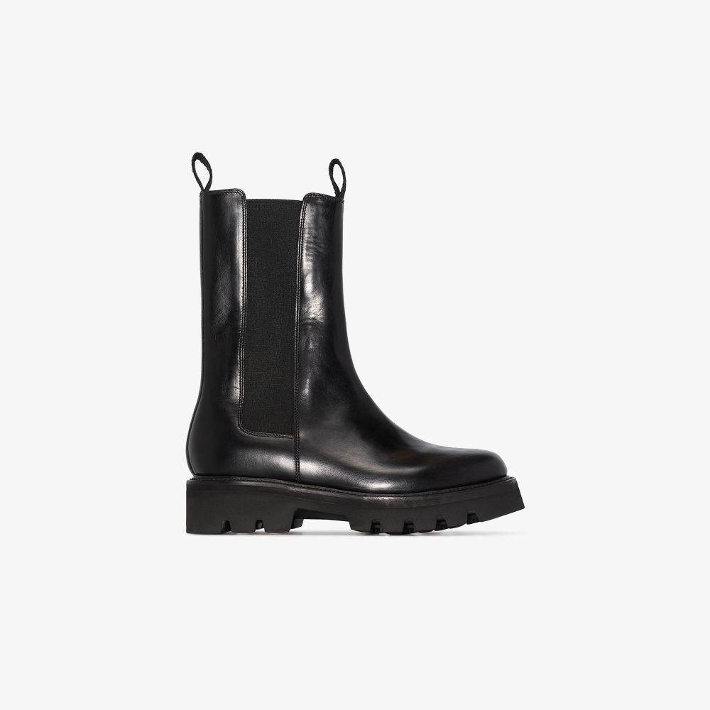 Black Doris High Leather Chelsea Boots