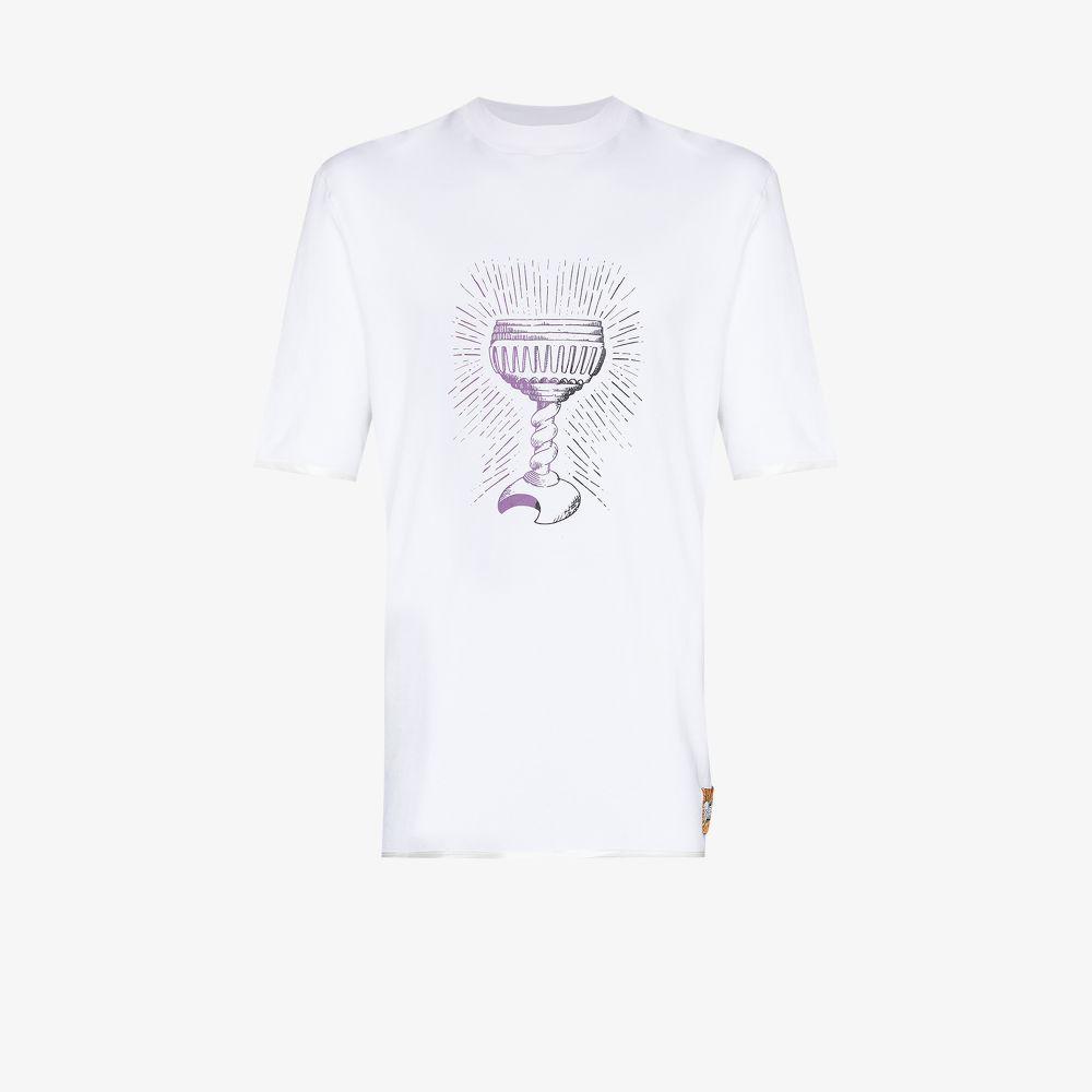 Boramy Viguier T-shirts WHITE GRAIL PRINT T-SHIRT