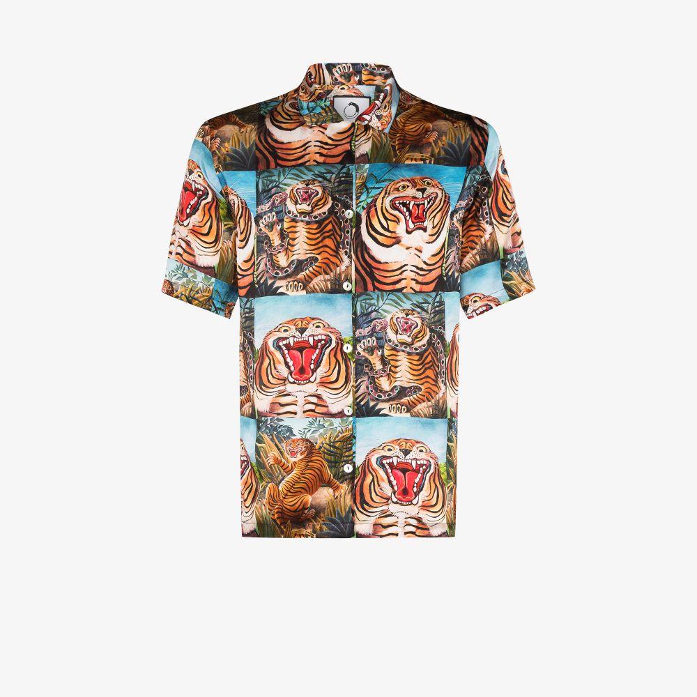 Tigre Printed Silk Shirt