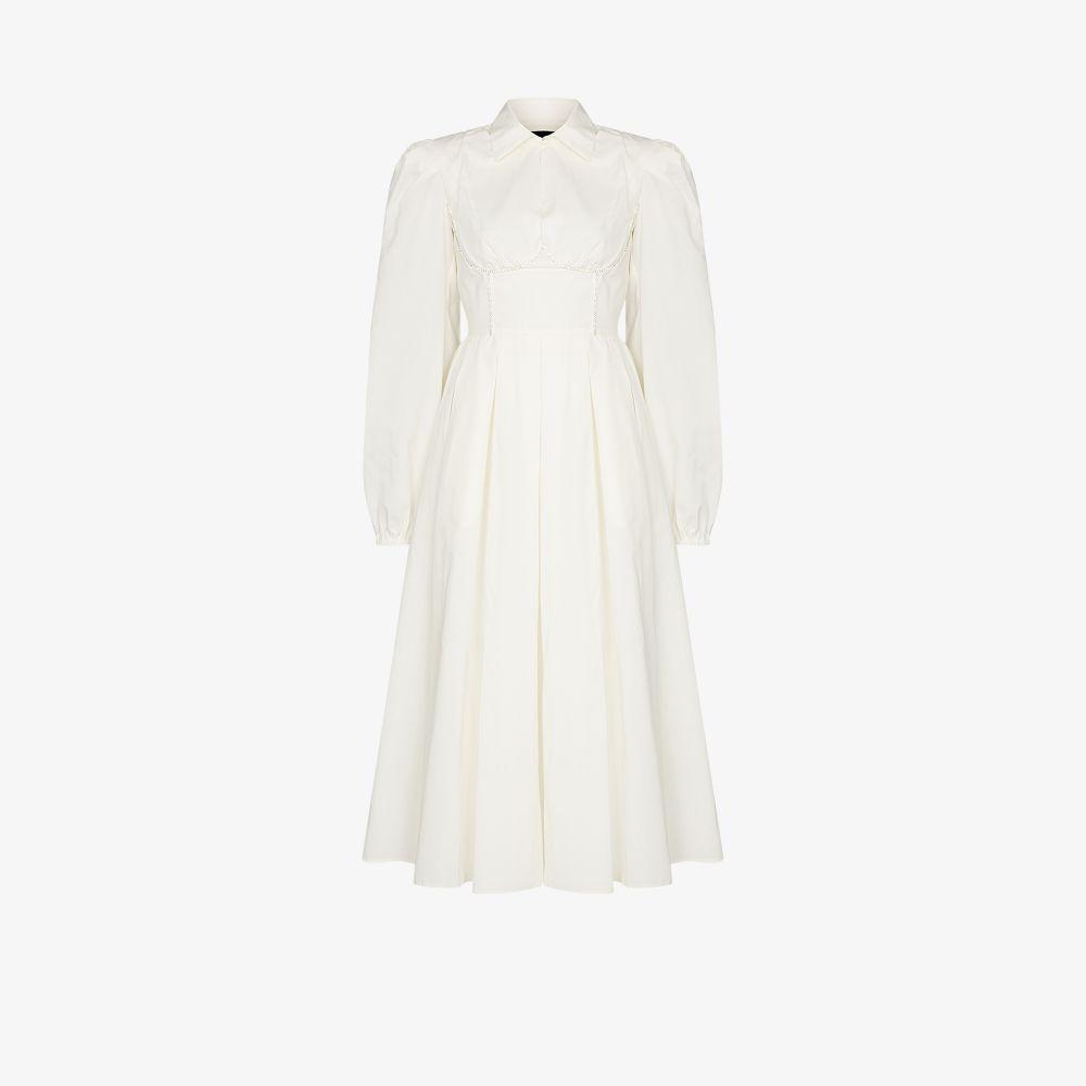 Anouki WHITE OPEN BACK SHIRT DRESS