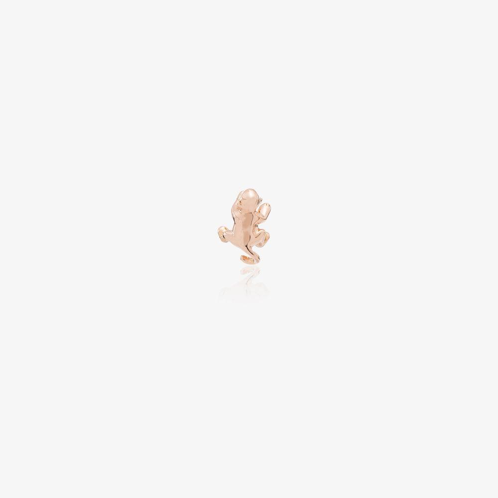 18K Rose Gold Monkey Stud Earrings