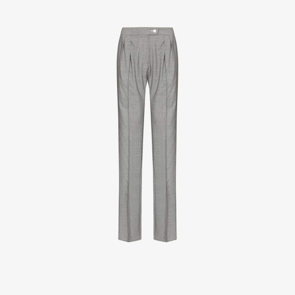 Ebba Straight Leg Wool Trousers