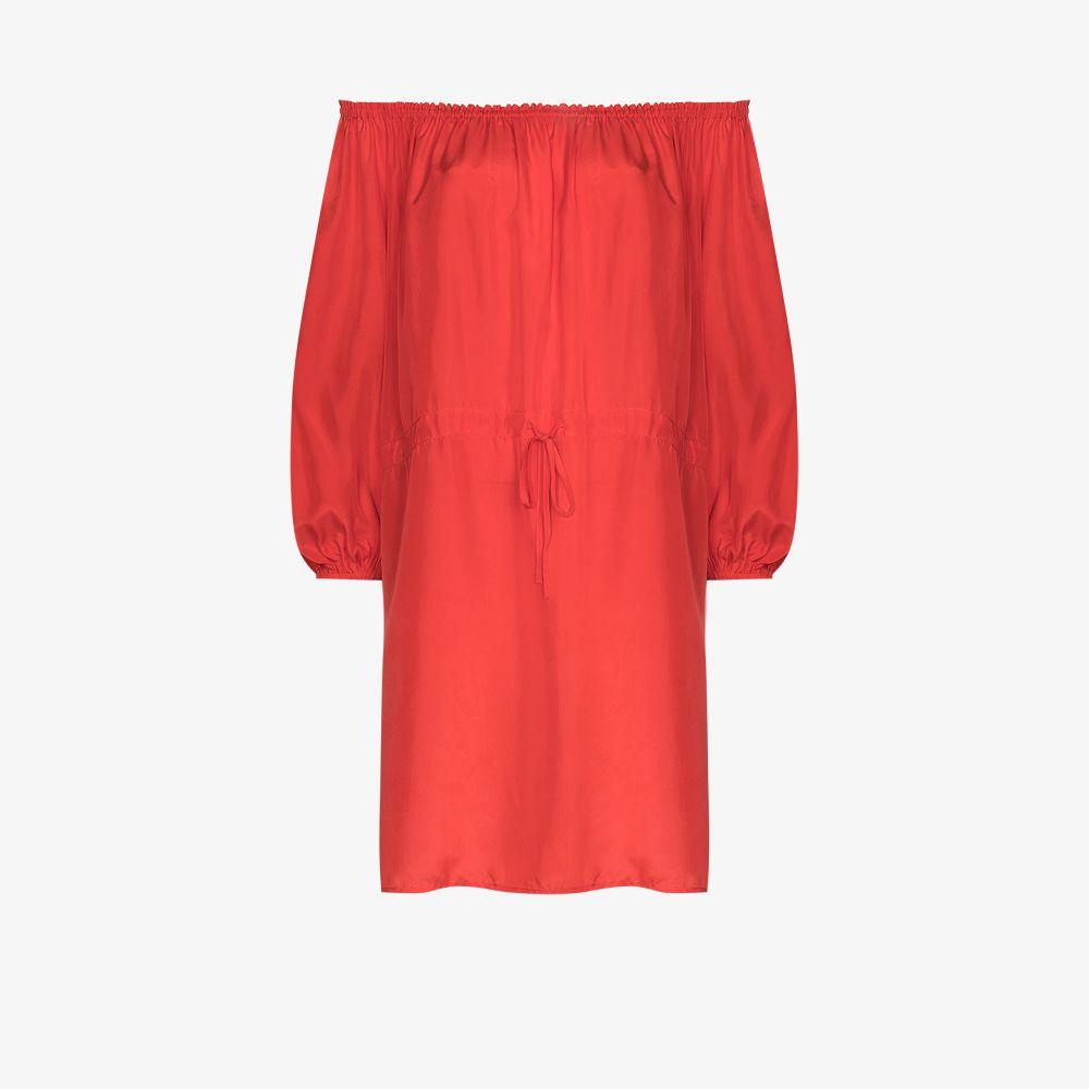Ruby Off-The-Shoulder Silk Mini Dress
