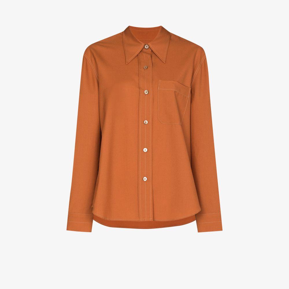 Contrast Stitch Button-Up Shirt
