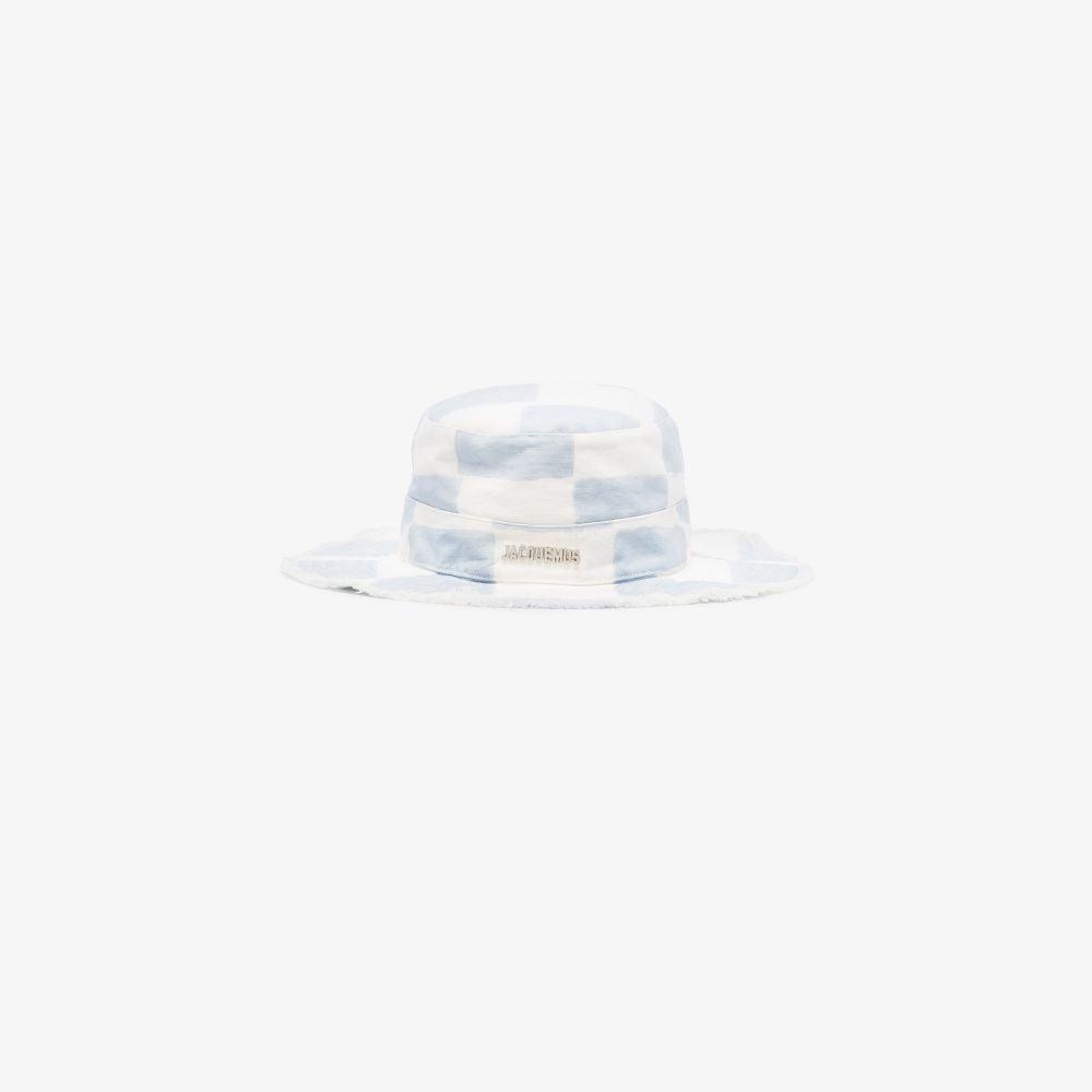 Jacquemus Blue And White Le Bob Artichaut Bucket Hat