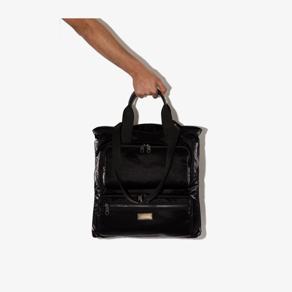 Dolce & Gabbana Black Shopper Tote Bag
