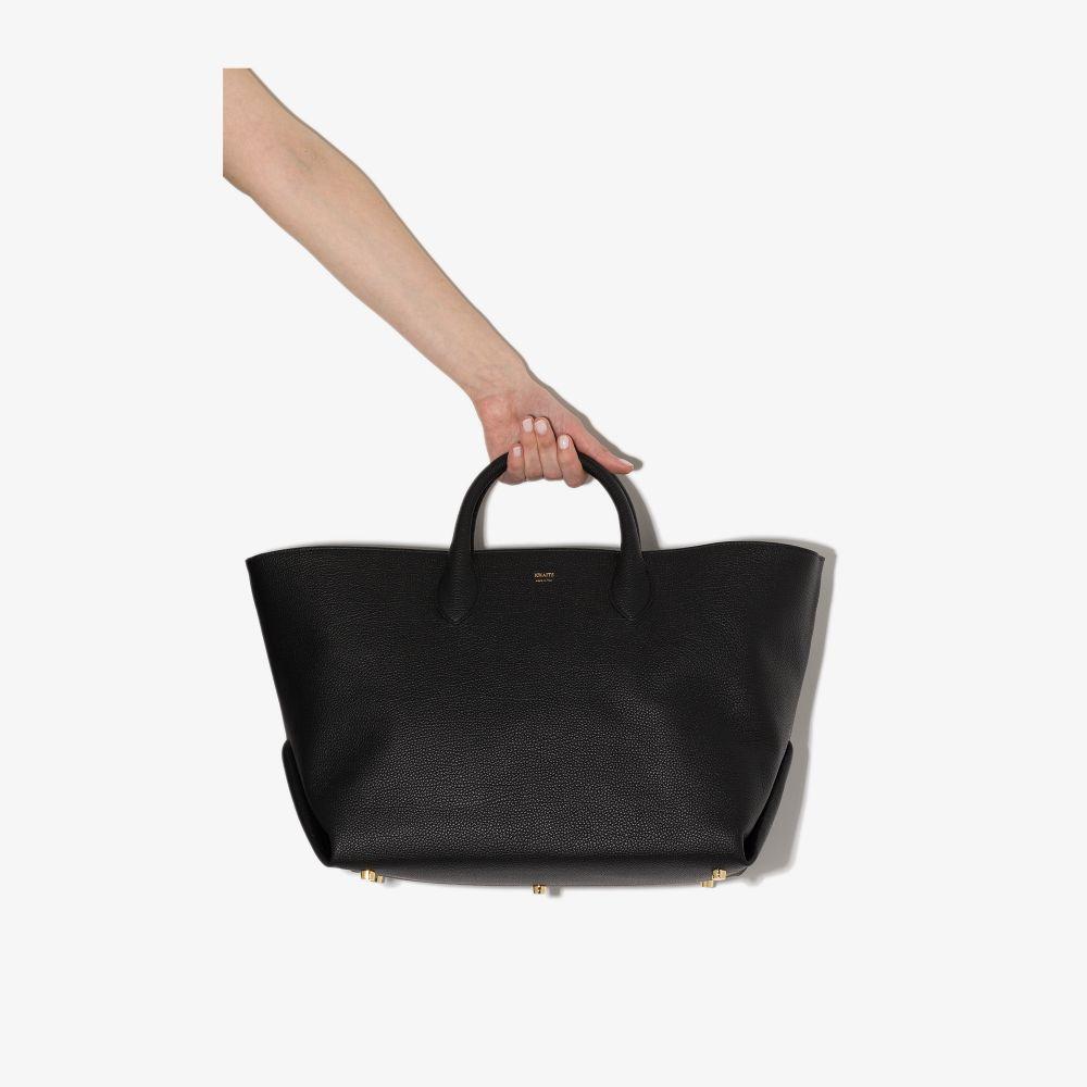 Khaite Leathers BLACK AMELA GRAINED LEATHER TOTE BAG