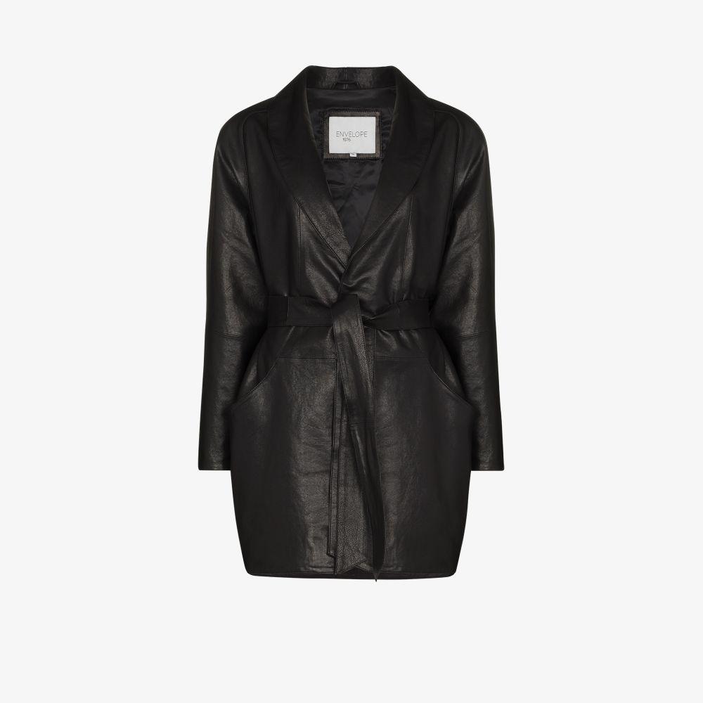 Kelly Belted Leather Jacket