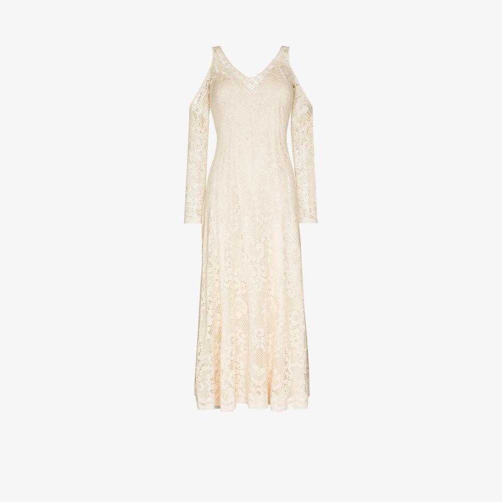 Rejina Pyo NEUTRALS FRANCES COLD SHOULDER LACE DRESS