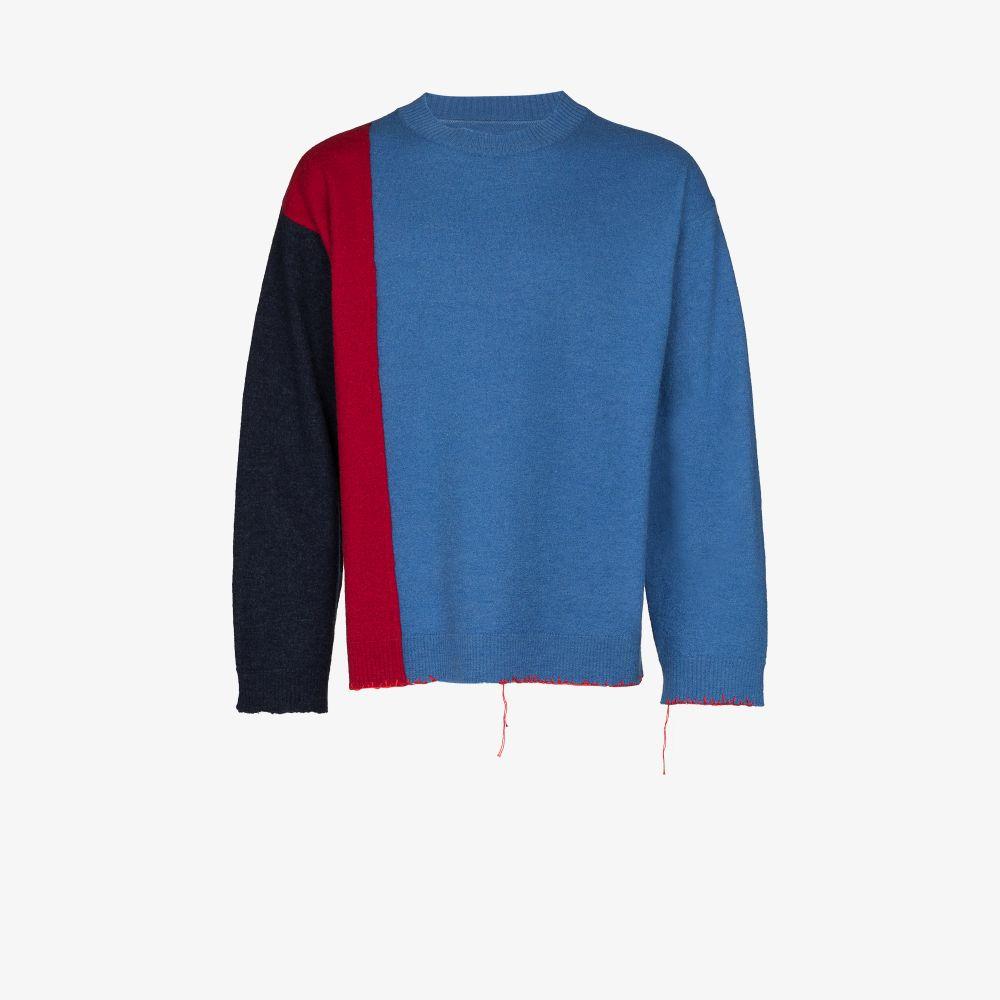 Maison Margiela Sweaters BLUE GAUGE 12 WOOL SWEATER