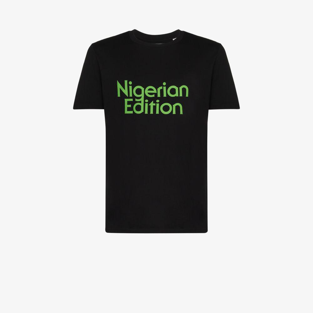 Ahluwalia BLACK NIGERIAN EDITION COTTON T-SHIRT