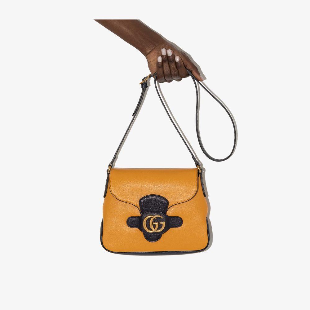 Gucci Shoulder bags YELLOW DAHLIA LEATHER CROSS BODY BAG