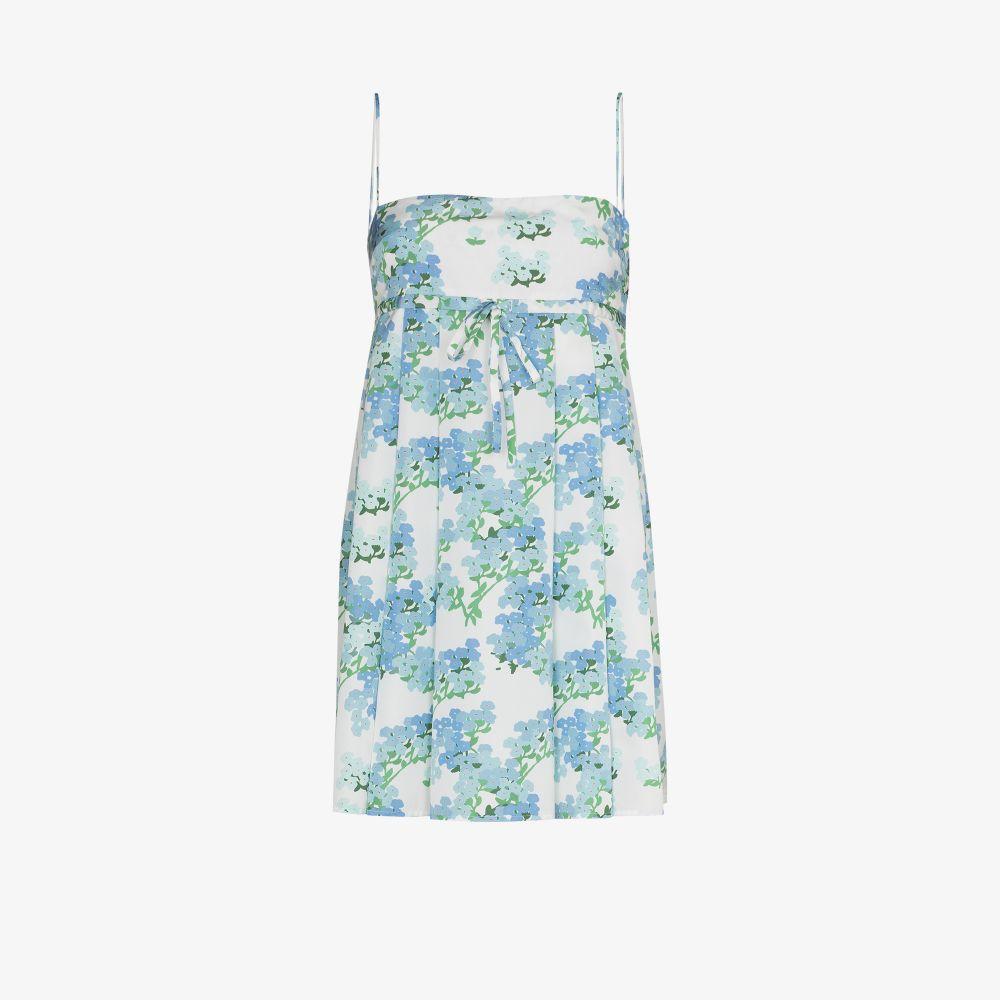Jules Pleated Floral Mini Dress