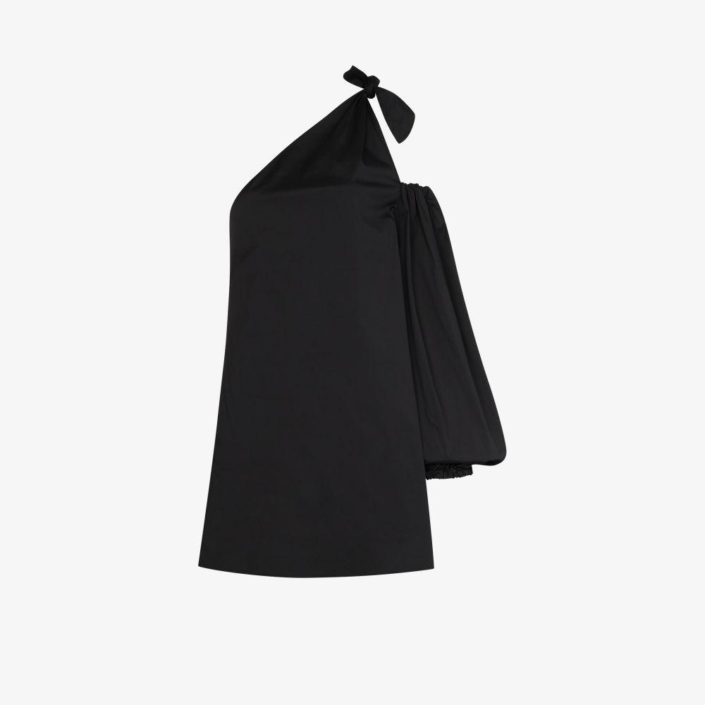Lucette One Shoulder Puff Sleeve Dress