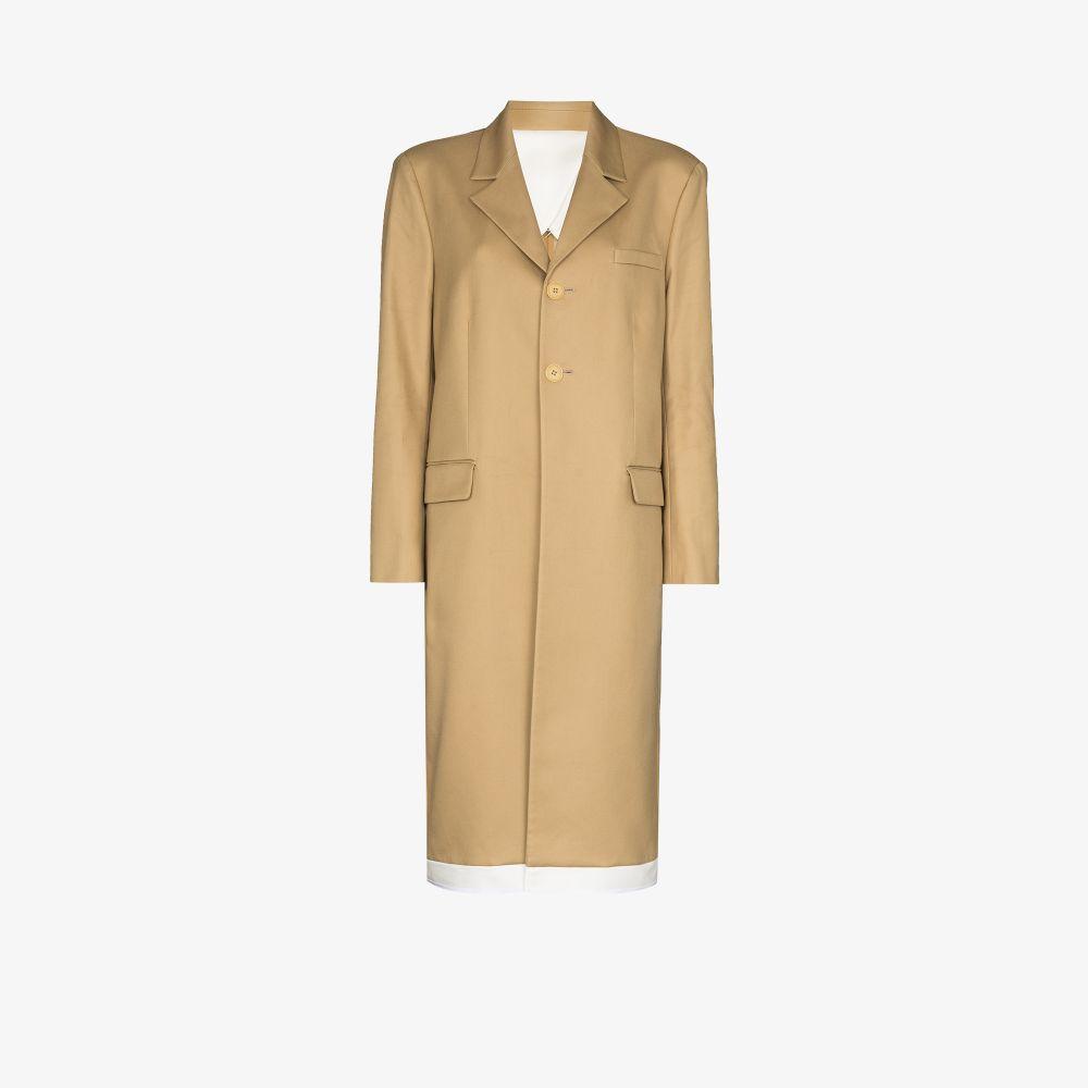 Slashed Single-Breasted Coat