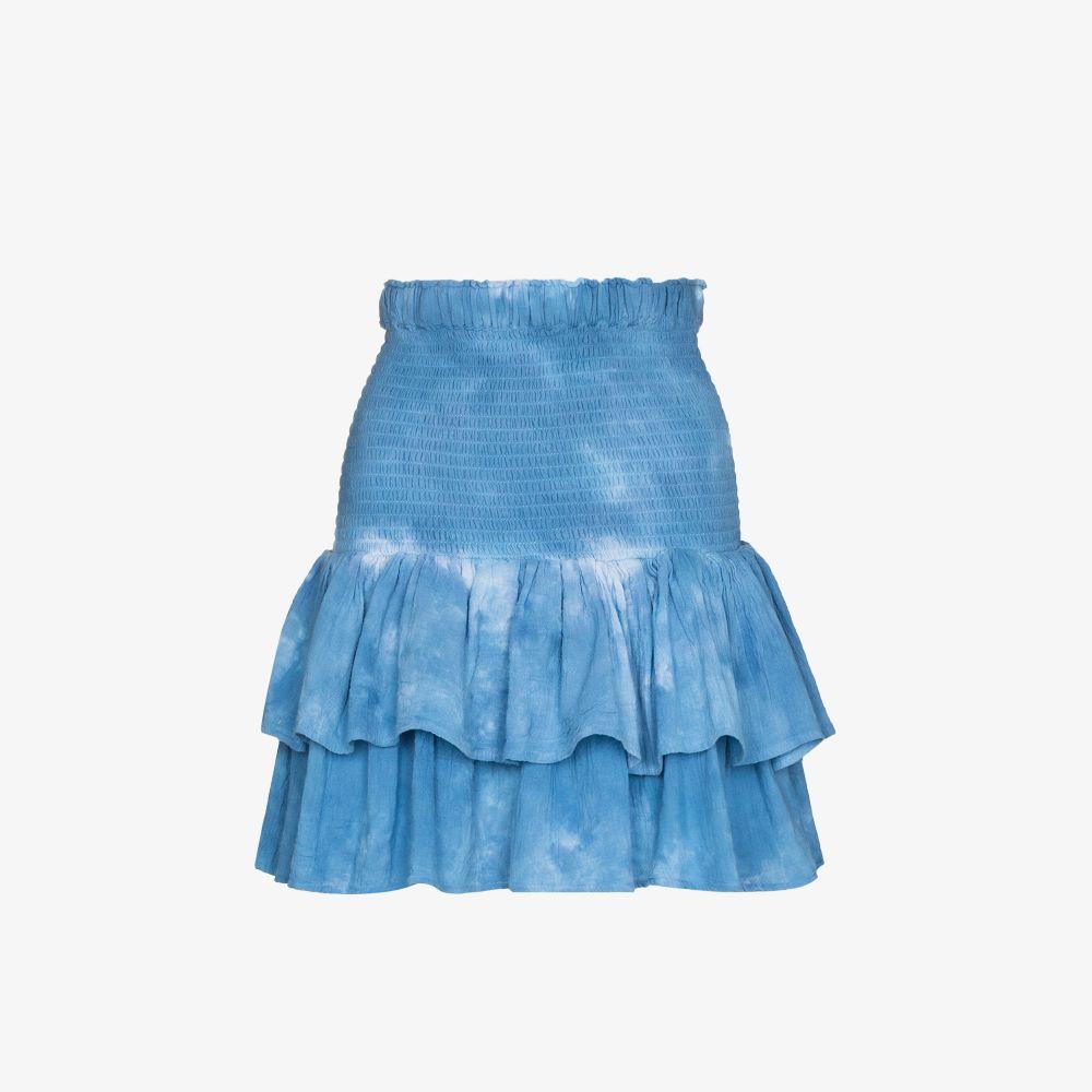 Pixie Tiered Tie-Dye Mini Skirt