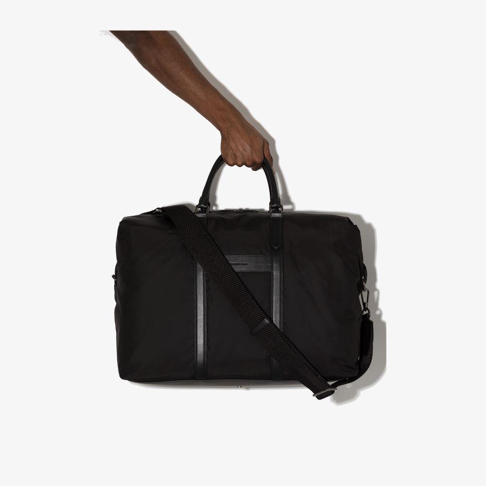 Ermenegildo Zegna Leathers BLACK AIRCRAFT HOLDALL BAG
