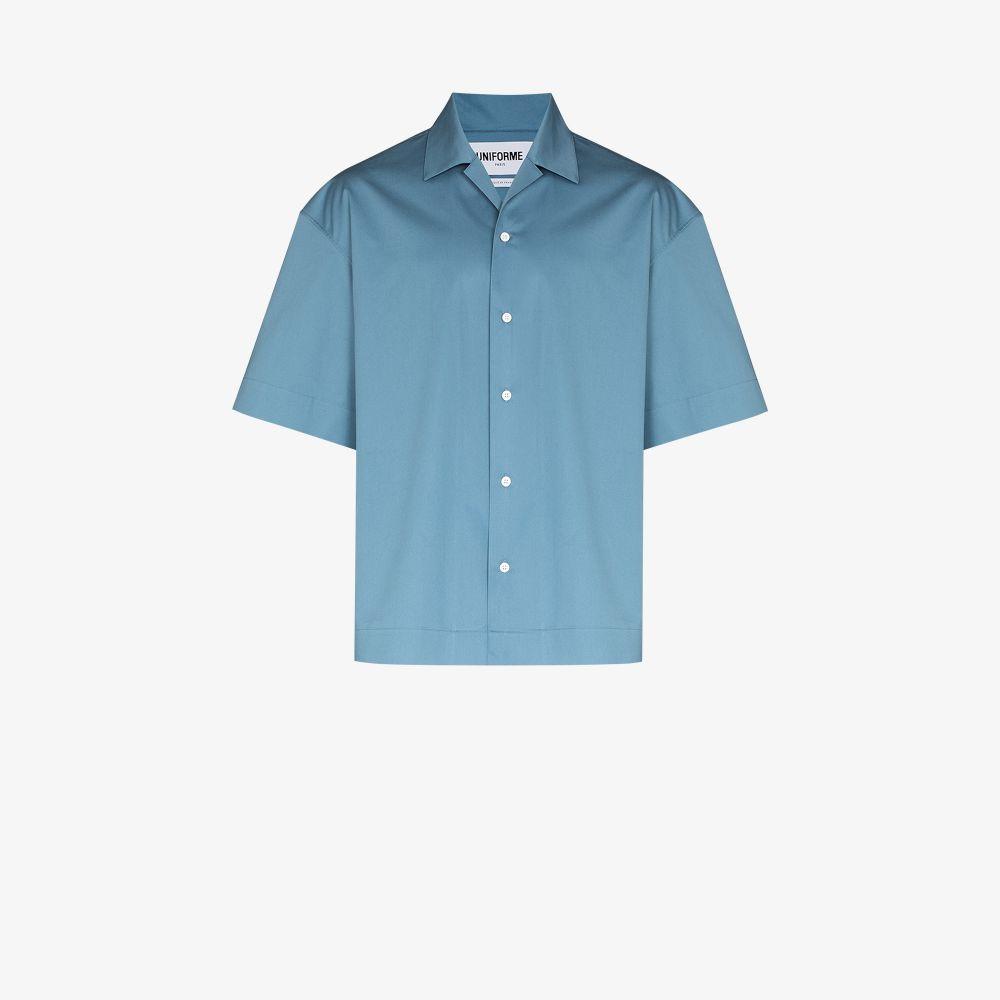Uniforme Cottons BLUE COTTON BOWLING SHIRT