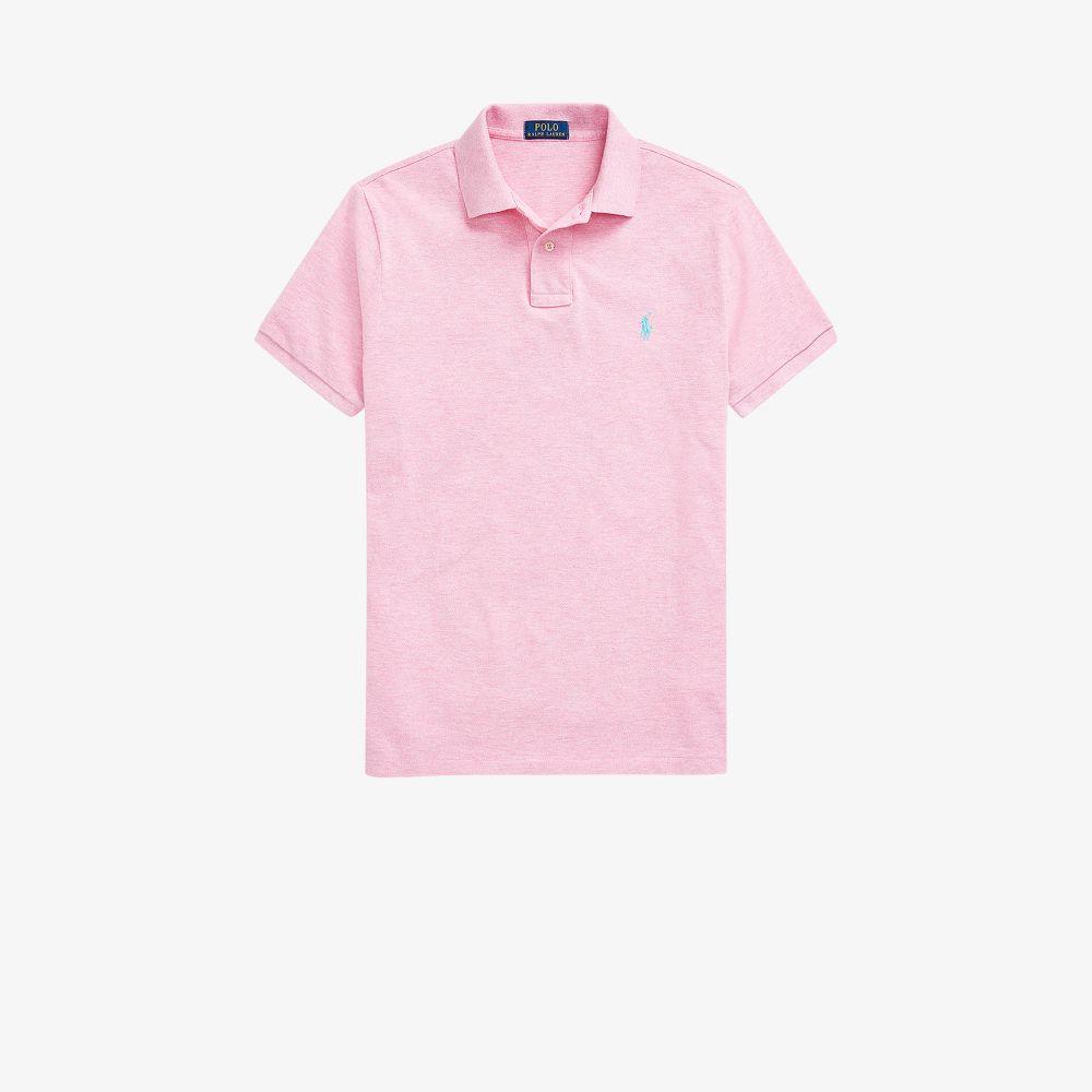 Polo Ralph Lauren Shirts PINK EMBROIDERED LOGO POLO SHIRT