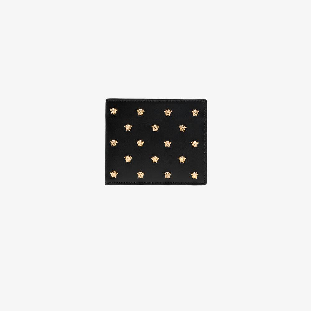 Versace BLACK MEDUSA LEATHER MINI WALLET