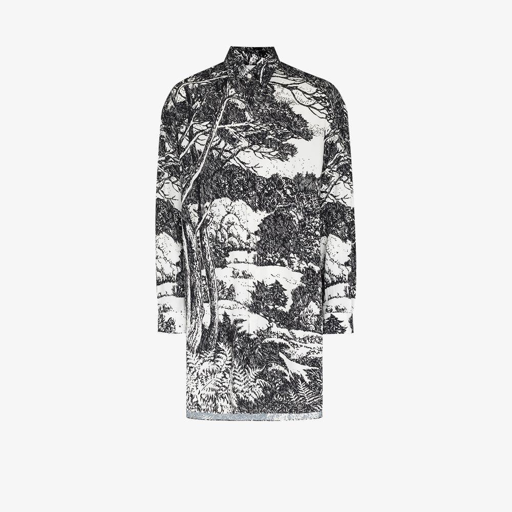 Uniforme T-shirts BLACK LANDSCAPE PRINT SHIRT