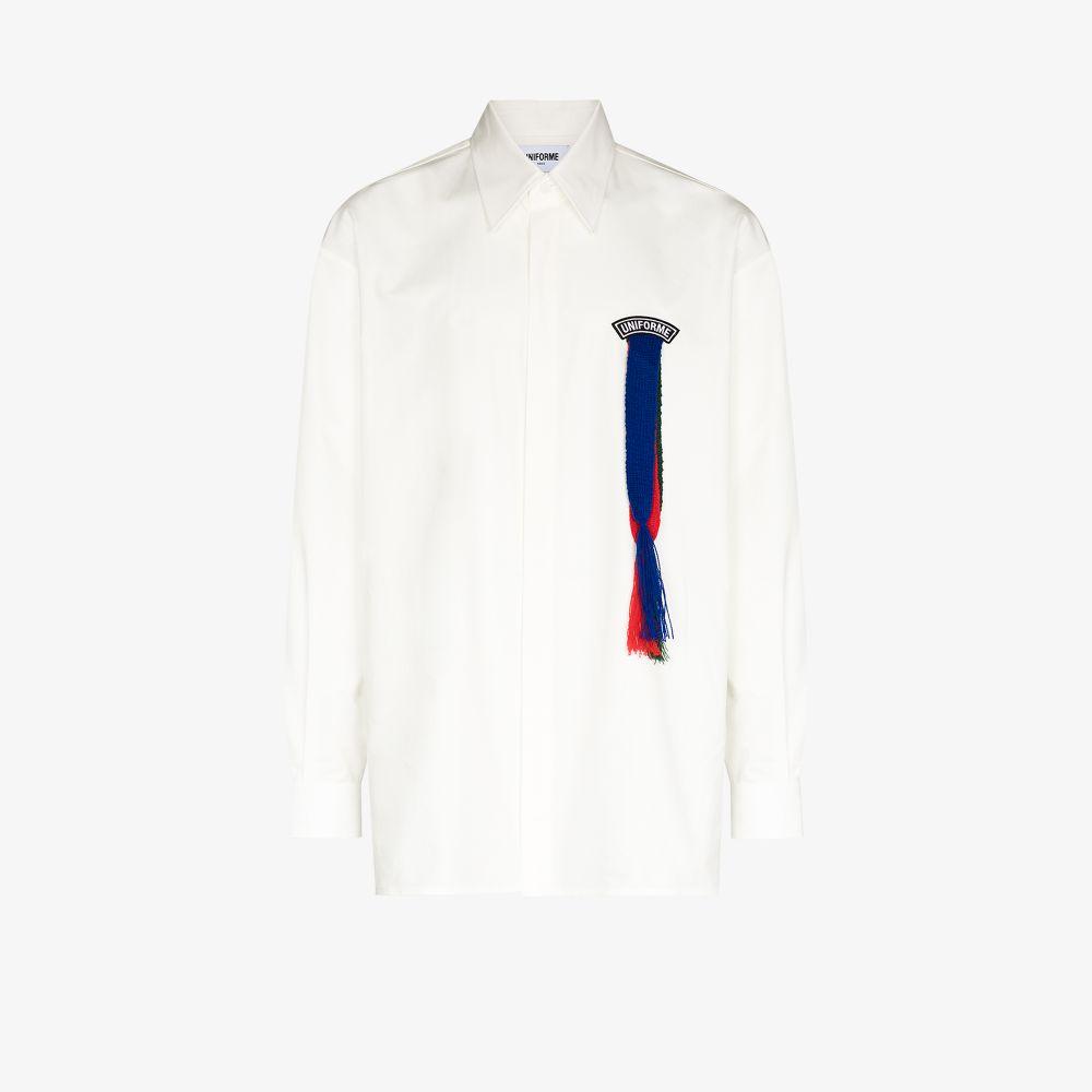 Uniforme Clothing WHITE SCOUTS RIBBON COTTON SHIRT
