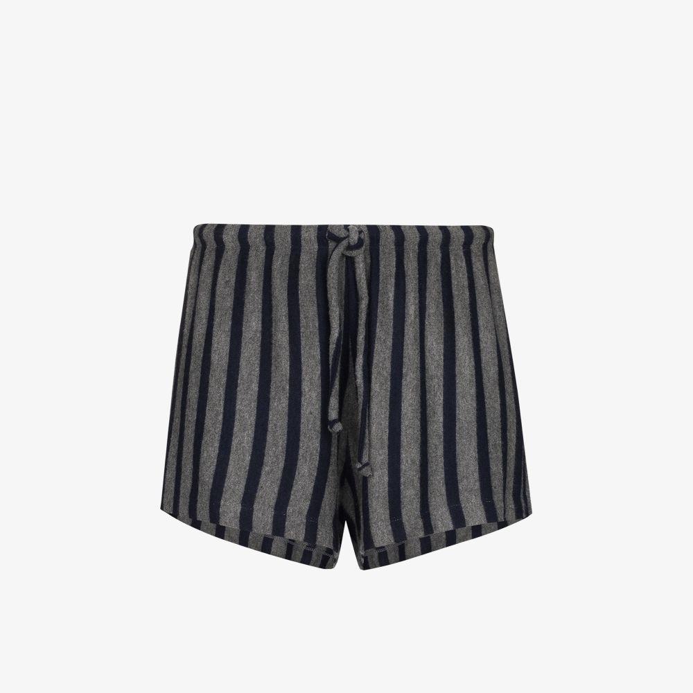 Leset Shorts LORI STRIPED DRAWSTRING SHORTS