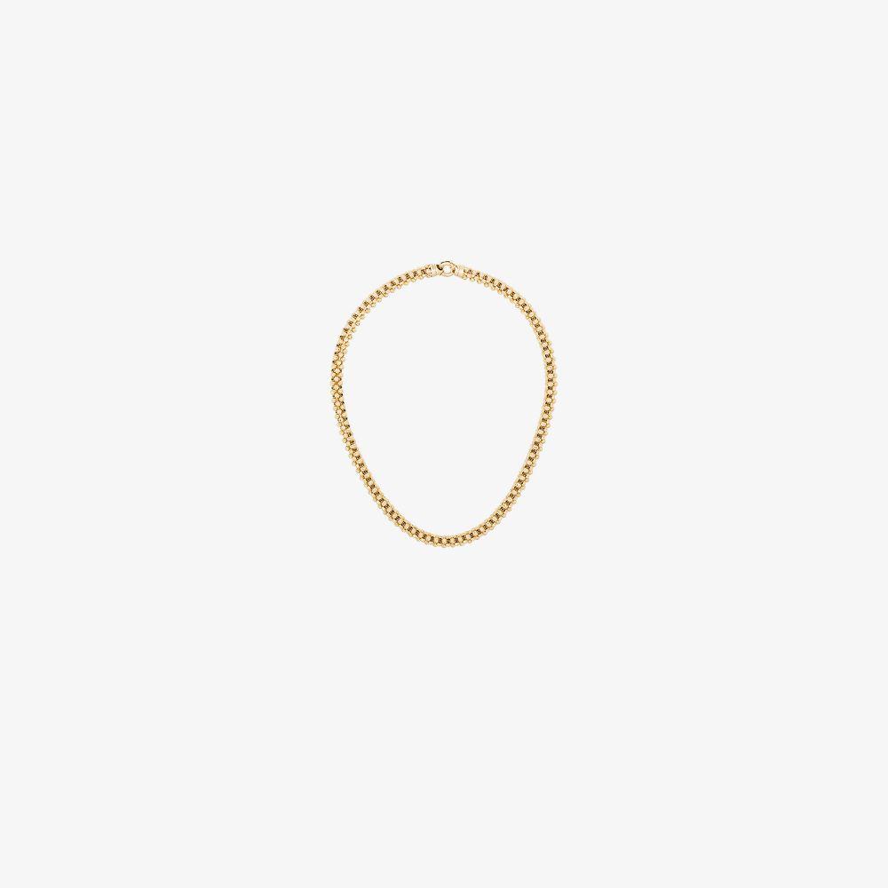 14K Yellow Gold Diamond Cut Chunky Chain Necklace