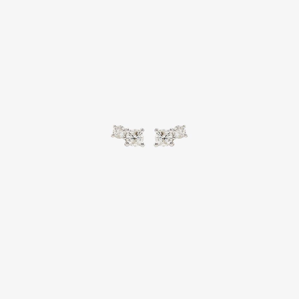 14K Yellow Gold Amigos Diamond Earrings