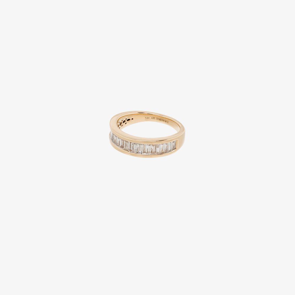 14K Yellow Gold Large Heirloom Diamond Ring