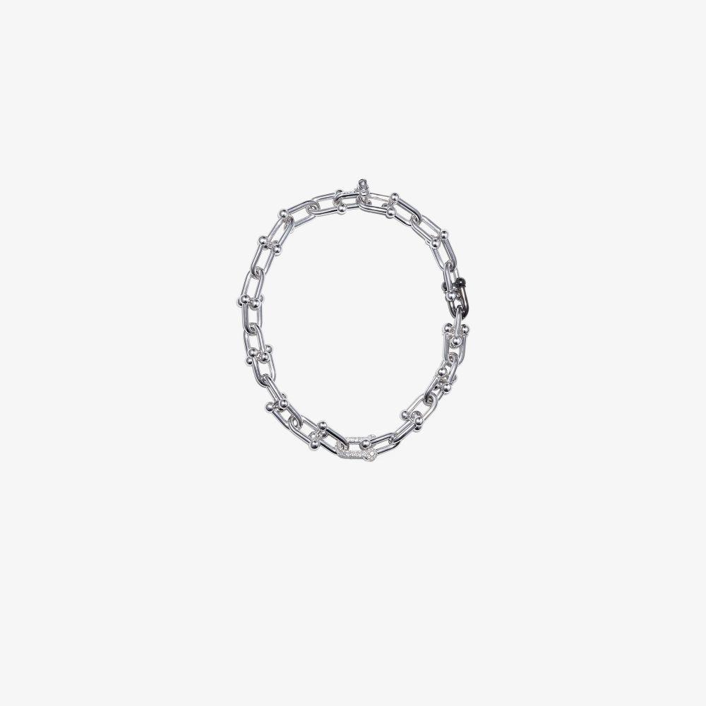 Sterling Silver XL U-Link Topaz Necklace