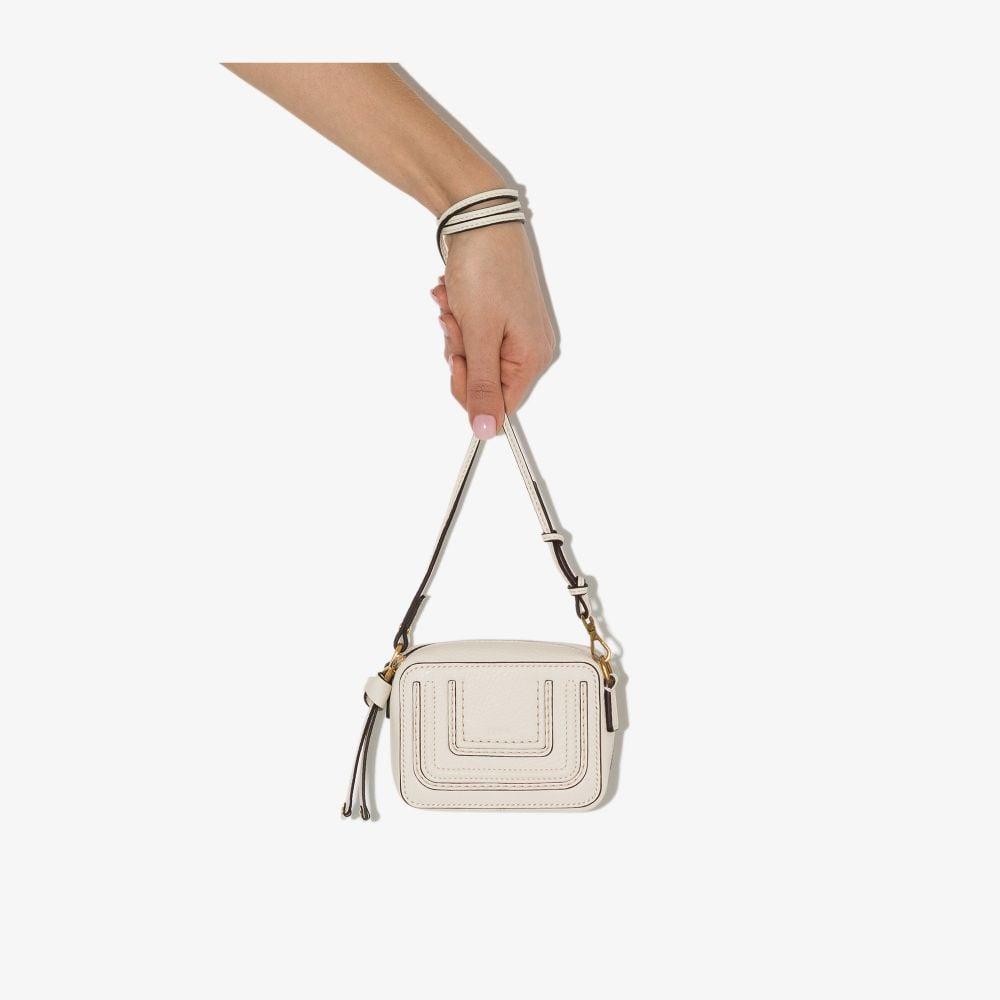 Chloé WHITE MARCIE LEATHER MINI BAG