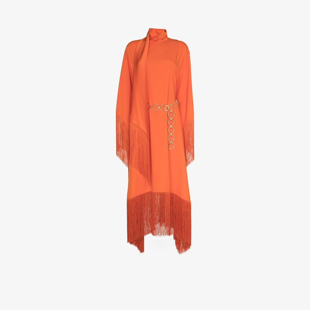 Taller Marmo Clothing MRS. ROSS FRINGED KAFTAN DRESS