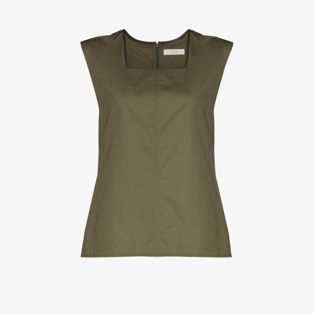Square Neck Sleeveless Cotton Top