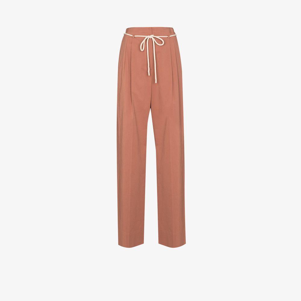 Tie Waist Cotton Trousers