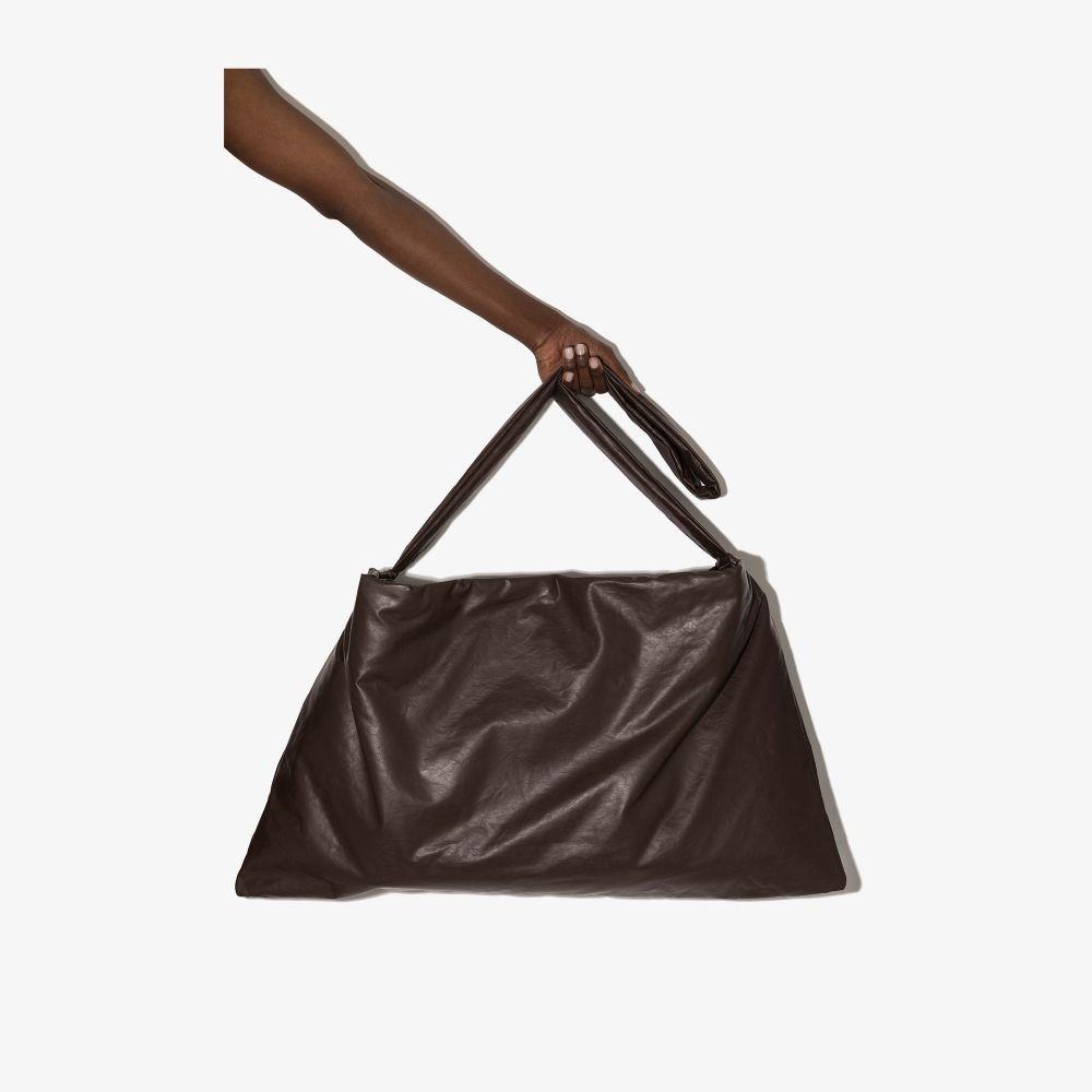 Brown Oil Square Medium Shoulder Bag