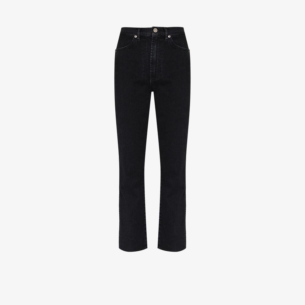 3x1 BLACK CLAUDIA STRAIGHT LEG JEANS