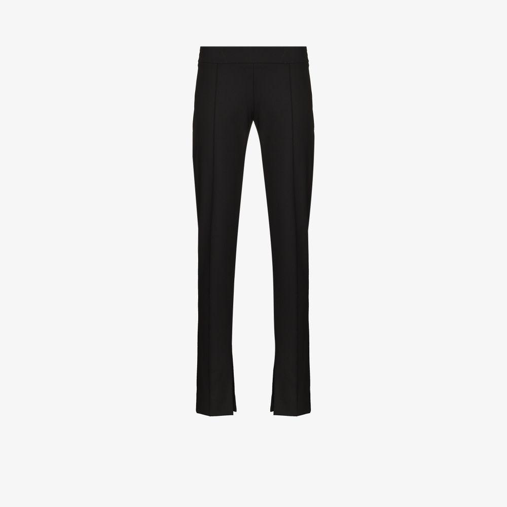 Aleksandre Akhalkatsishvili Black Side Slit Tailored Trousers