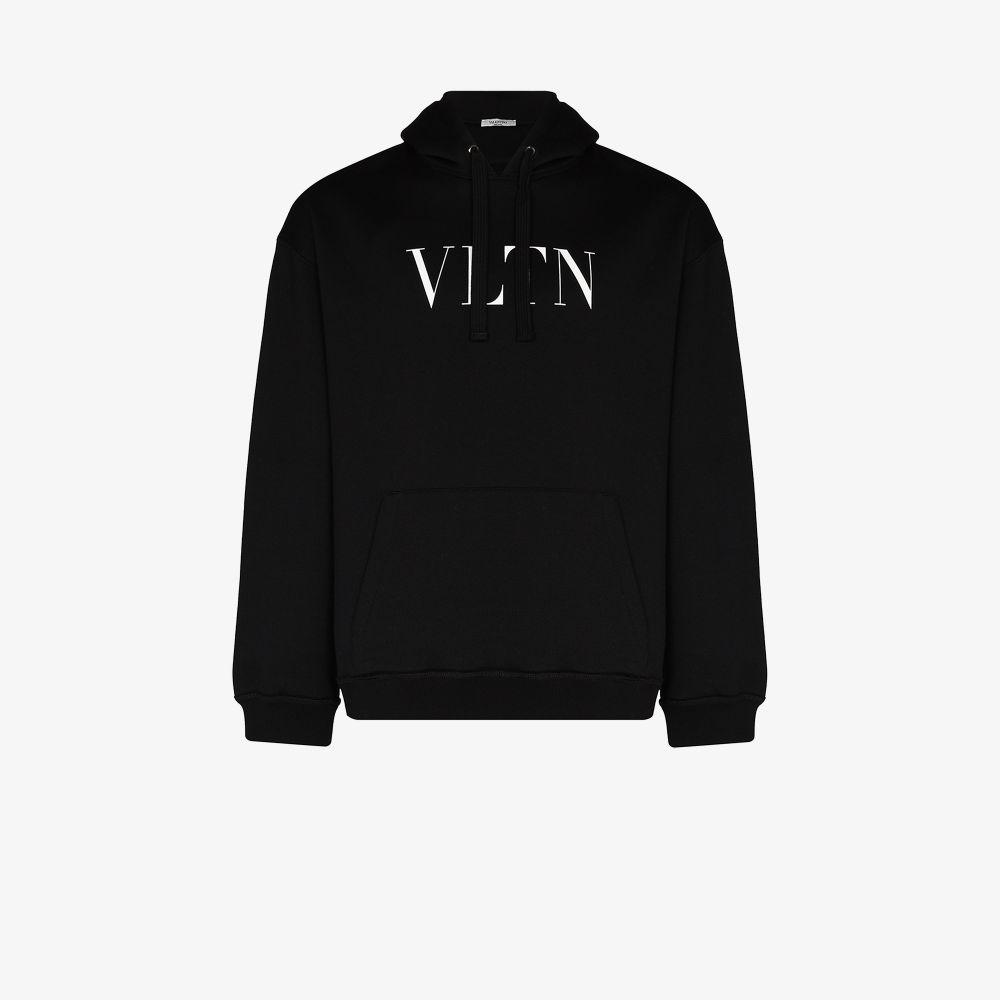 Valentino Hoodies BLACK VLTN LOGO HOODIE